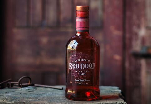 Stylish bold and vivid red: Presenting the fabulous Red Door gin bottle