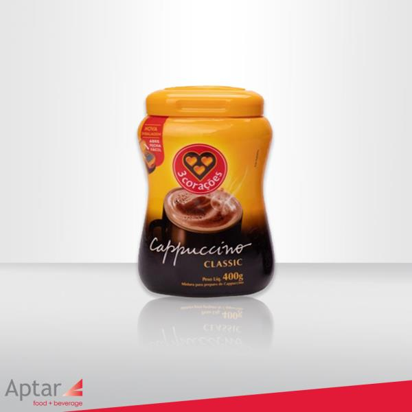 New 3Corações cappuccino package launches using Aptar's BAP technology