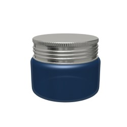 Metal lid on plastic jar
