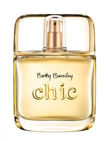 "The new Betty Barclay ""chic"" perfume, featuring a stunning Aarts overcap"
