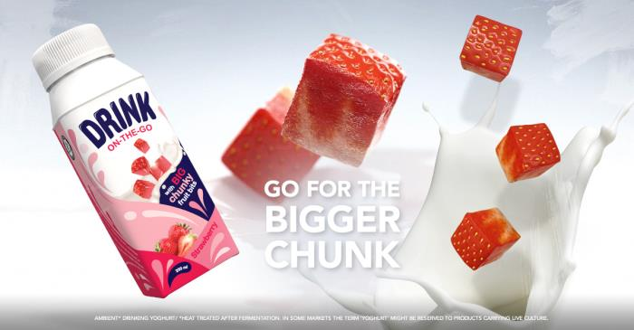 Tetra Pak rejuvenates drinking yoghurt with inclusion of large fruit pieces
