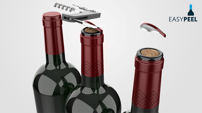 Opening wine made easier and cleaner with Amcors Easypeel capsule