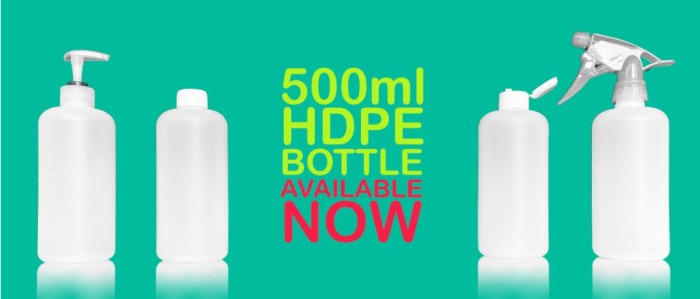 500ml HDPE Bottle – Available Now