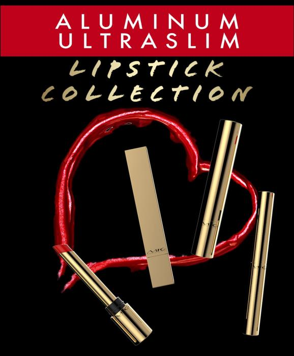 The new aluminum Ultraslim Lipstick collection
