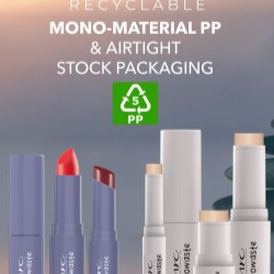MYCs stock packaging is mono-material and 100% recyclable