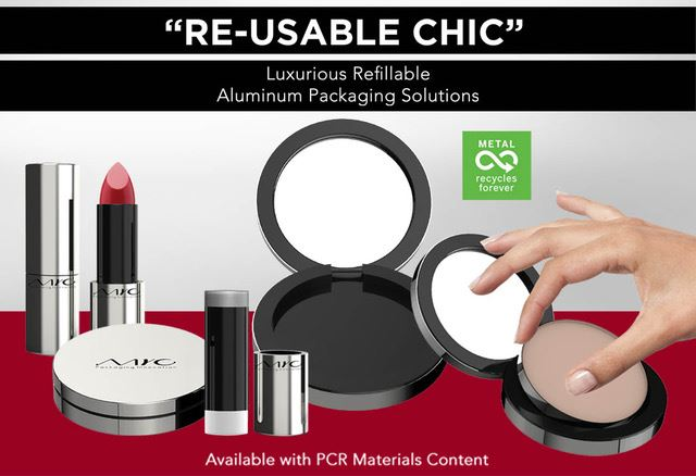 Re-usable chic: Luxurious refillable aluminum packaging solutions