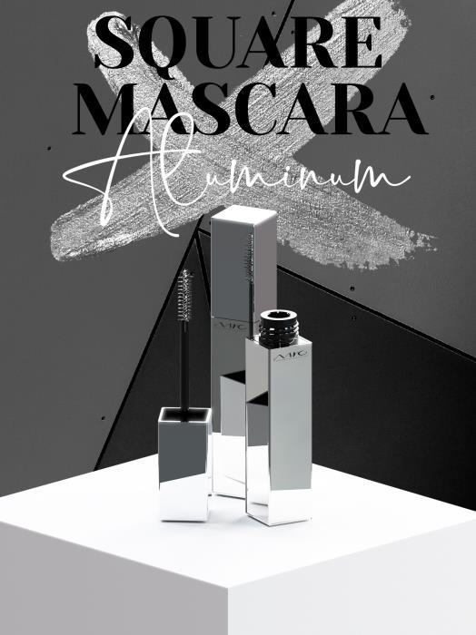 MYC's cool square mascara stands out in a sea of round bottles