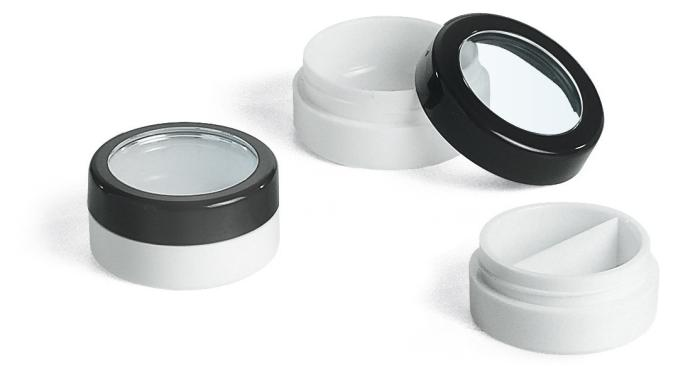 Pressed powders, compacts, balms