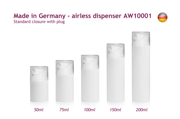 Skin care — New airless systems made in Germany