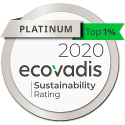 EcoVadis awards Geka GmbH Platinum CSR (Corporate Social Responsibility) Rating, Ranking in the Top 1%