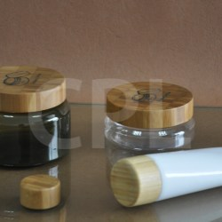 PET jar and tube with bamboo cap