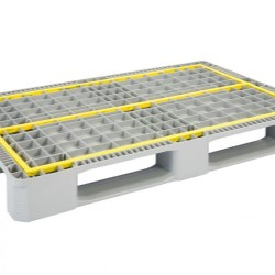 Reinforced Hygienic Euro Pallet with 3 Runners