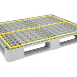 Reinforced Hygienic Industrial Pallet with 5 Runners