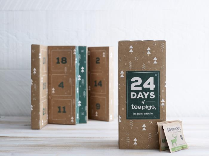 Concertina design suits advent calendar down to a tea