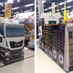 DS Smith drives increased sales for Royal Unibrew with enormous corrugated cardboard truck
