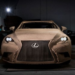 DS Smith cardboard Lexus car