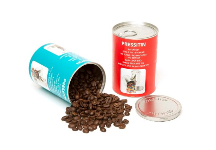New tin packaging concept from Tinware Direct: Pressitin