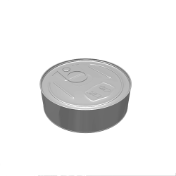 100ml Can - Silver Round Pressitin Body and Base