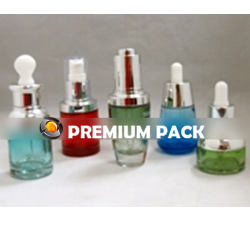 Glass bottles for perfume and esssential oils, oils and serums bottles with dropper pumps