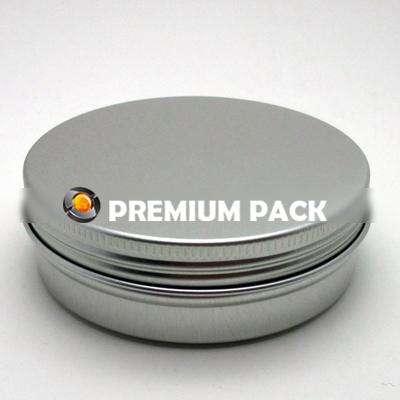 Aluminum round jar