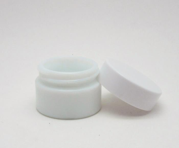 Opaque White Glass Jar for cosmetic and skin care brands