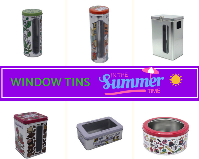 Tins with Window for 2018 Summer