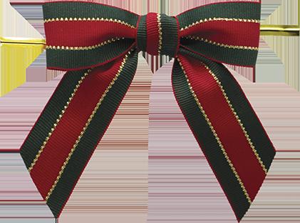 Xmas Stripe Twist-tie Bow ()