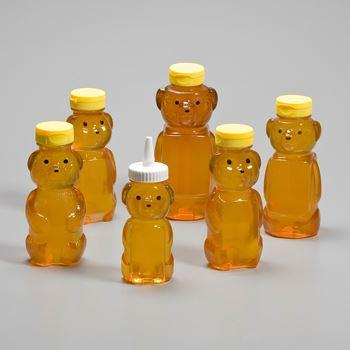 Discover Alphas range of PET honey bear bottles