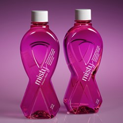 Alphas breast cancer awareness bottle for Misty Artesian Water
