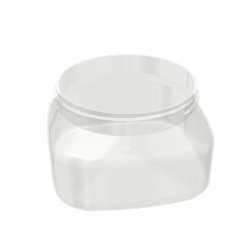 PET Firenze Square Jar - 6oz / 188ml 70-400