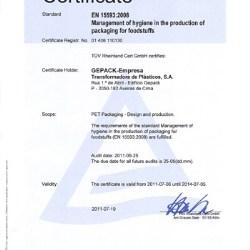 Gepack obtains EN15593:2008 standard