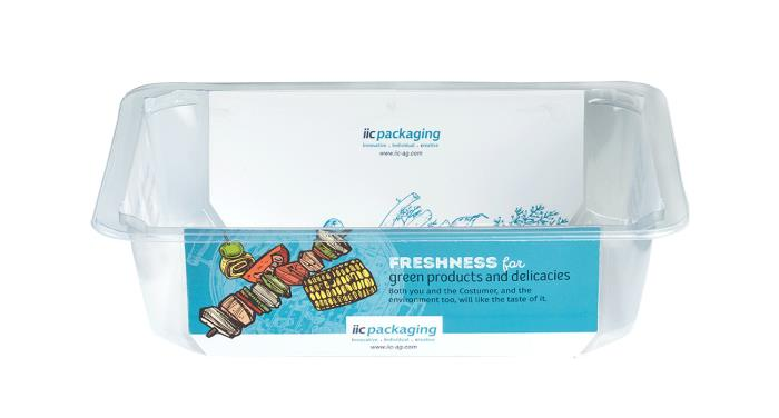 Weight-reduced PP/PET packaging for the food industry