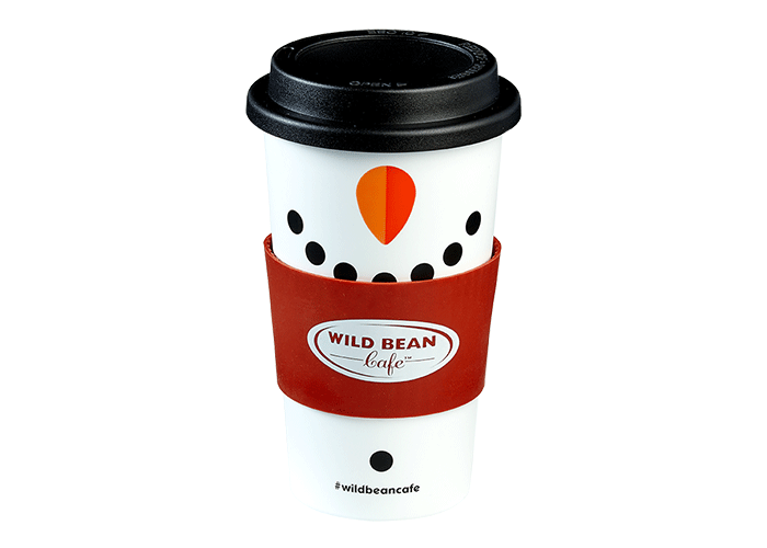 Coffee mug with screw cap