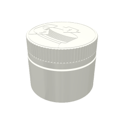 50ml Wide Neck Child-Resistant Polypropylene Jar with 53mm Neck
