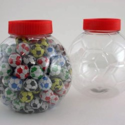 Neville and Mores new soccer ball shaped PET jar