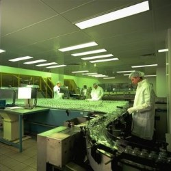 Clean room production of glass bottles
