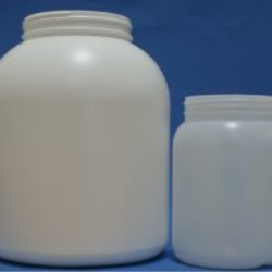 Large size plastic HDPE wide neck jars for sports nutrition products