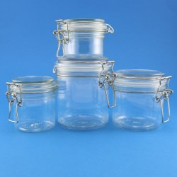 Innovative high quality PET clasp jar range