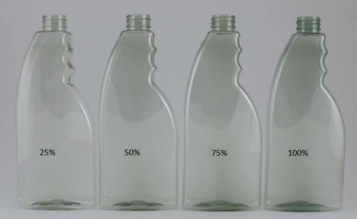 Go green with up to 100% PCR PET bottles and jars
