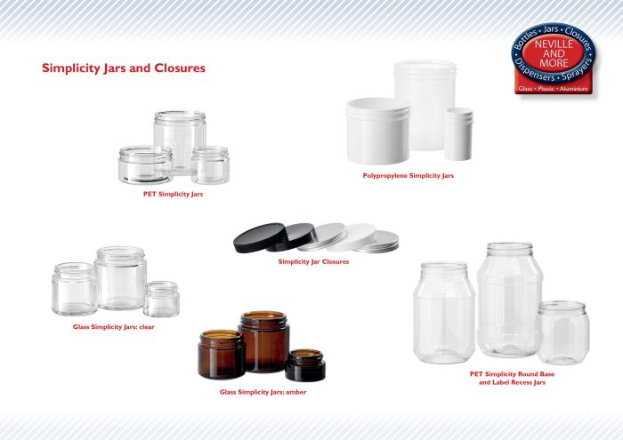 Neville and More creates more sizes of Simplicity Jars that are available direct from stock