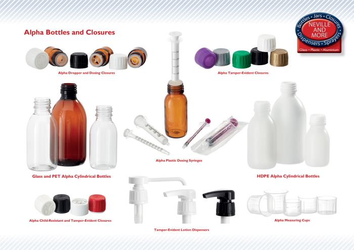 More innovative closures and dispensers for the popular Alpha Bottle range