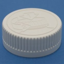 38mm 400 White Ribbed Child Resistant Cap with EPE Liner