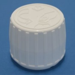 28mm White Ribbed Child Resistant and Tamper Evident Cap with EPE Liner
