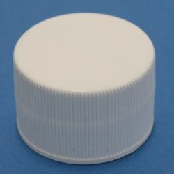 28mm 410 White Ribbed Cap with EPE Liner