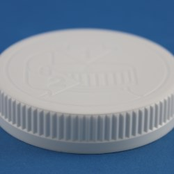 70mm 400 White Ribbed Child Resistant Cap with EPE Liner