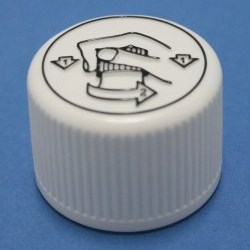 28mm White Child Resistant Tamper Evident Cap with epe liner