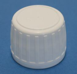 28mm White Ribbed Tamper Evident Cap with Polycone Insert for PET/HDPE