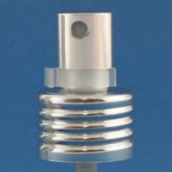 24mm 410 Shiny Silver Metallic Finger Spray Pump and safety clip 0.13ml output