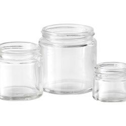 Clear Simplicity Glass Jars