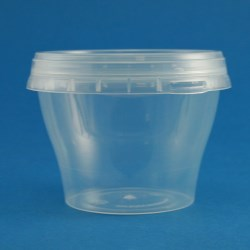 220ml Natural Polypropylene Tapered Tub with Tamper Evident Cap